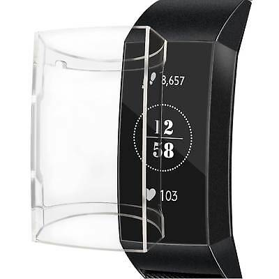 $ CDN11.41 • Buy For Fitbit Charge 4 / Fitbit Charge 3 Clear TPU Full Cover Case Screen Protector