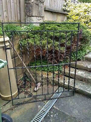 Vintage Antique Black GARDEN GATE Wrought Iron Metal With Hinges Latch Fittings • 100£