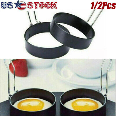 $9.98 • Buy USA Nonstick Egg Pancake Ring Set Kitchen Cooking Mold Mould Shaper Frying Tools