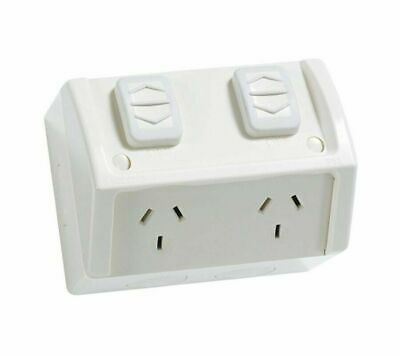 AU38 • Buy 4 X Double Weatherproof Power Point Outlet Socket Weather GPO Outdoor