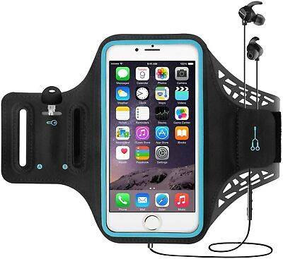 AU19.90 • Buy Sports Armband Gym Running Fitness For IPhone 12 11 Pro Max/7/8 Plus/XR/Xs Black