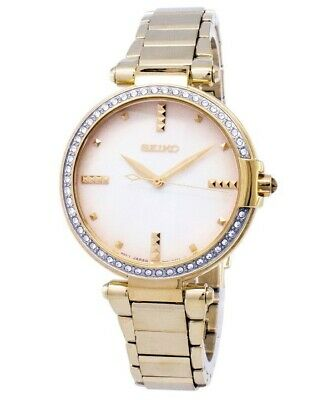 $ CDN189.99 • Buy Seiko Diamond Accented Gold-Tone Stainless Steel Womens Watch - SRZ518 SRZ518P1