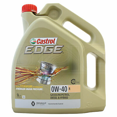 Castrol Edge Titanium 0w-40 0w40 R Fully Synthetic Engine Oil - 5 Litres 5L • 47.95£