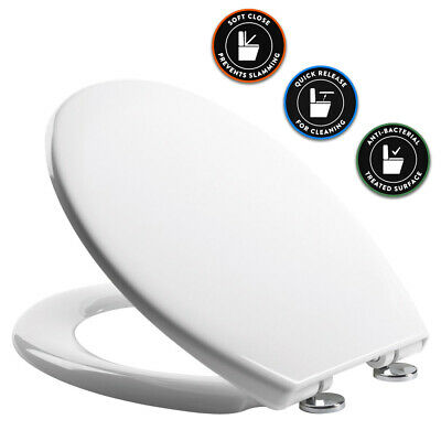£22.98 • Buy Heavy Duty NEUTRON Toilet Seat White Soft Close Quick Release Easy Clean Hinges