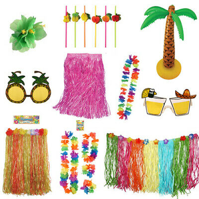 Hawaiian Luau Tropical Party Decorations Bbq Summer Beach Flower Decor Accessory • 5.99£