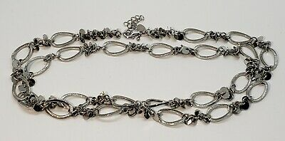 $ CDN17.75 • Buy Lia Sophia Silver Tone Chain Link Long Necklace  32  To 36  Great Condition