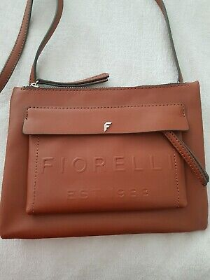 Fiorelli Tan Leather Bohemian Boho Satchel Style Side Adjustable Strap Trend Bag • 20£