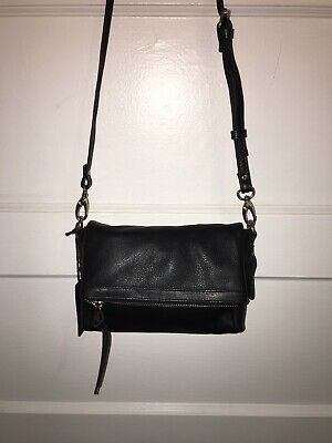 $19.95 • Buy Treesje Joelle Hawkens Black Leather Mini Crossbody Purse New With Tags