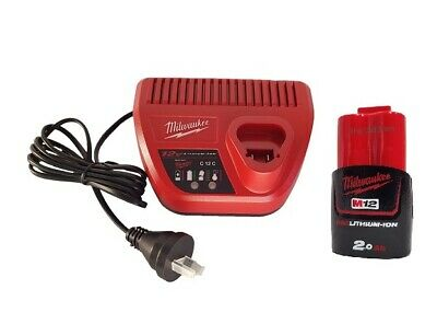 AU119 • Buy Milwaukee Genuine M12SP-201B 12V 2.0Ah REDLITHIUM Battery And Charger Set