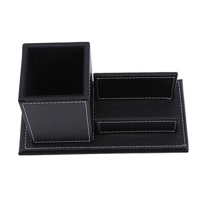£9.21 • Buy Practical Pen Holder Office Organizer Black Multifunction Business Card Box HY