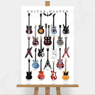 Guitar Heaven Large Canvas Print Picture Nirvana Rolling Stones AC/DC Metallica  • 17.95£