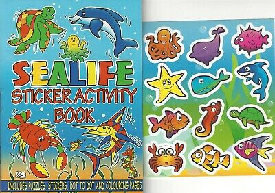 £1.54 • Buy Set Children's Sealife Colouring Puzzle Book Stickers Activity Kids Girls Boys