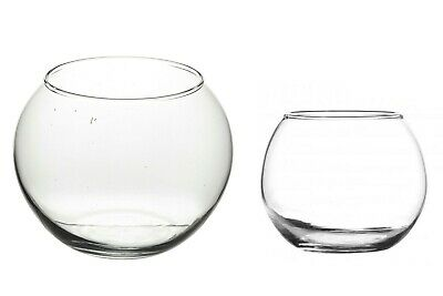 £8.95 • Buy Round Glass Flower Vase Wedding Gift Centrepiece Box Fish Bowl Table Glass Water