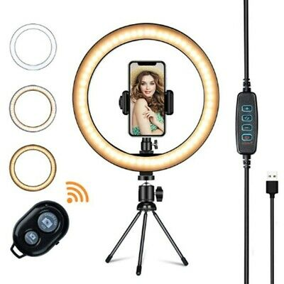 AU20.99 • Buy 10  Phone Selfie LED Ring Light With Stand For Youtube Tiktok Makeup Video Live