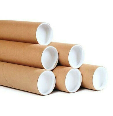 $59.95 • Buy 50 - 2 X 18  Kraft Tubes Poster Document Graphics Mailing Shipping Packing NEW