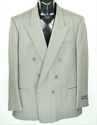 $150 • Buy Christian Dior Monsieur Men's Size 48L Gray Wool Double Breasted Blazer NWT
