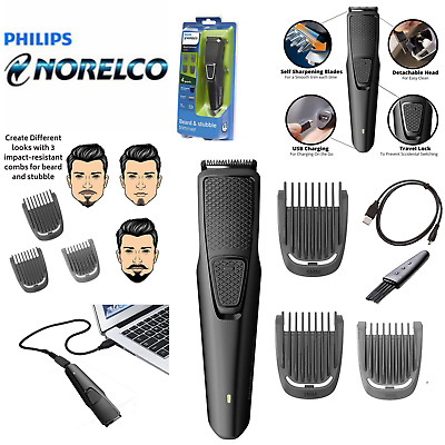 AU45.06 • Buy Philips Norelco Beard Trimmer W/ 3 Attachments Cordless Hair Clipper Series 1000