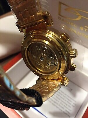 $175 • Buy Daniel Steiger Evolution Gold Plated Men's Watch NIB Without Tags