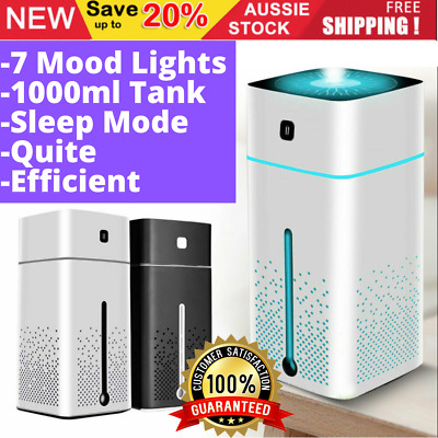 AU28.45 • Buy Aroma Aromatherapy Diffuser Essential Oil Ultrasonic Air Humidifier Purifier 1L
