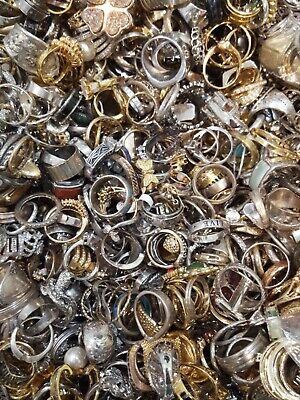$ CDN65.16 • Buy 💥PLUS SIZE RINGS Lot Only 💥ALL GOOD Wear Resell Vintage Now 5 Pcs~all Styles💍