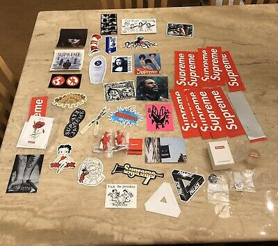$ CDN132.60 • Buy 51 Supreme Stickers Pack Pins Gift Ball Shower Matches Poppy Box Logo Authentic
