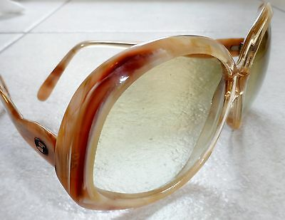 AU50.84 • Buy VINTAGE ITALY SAFILO ODEON SUNGLASSES MARBLED MOD 1940s 50s 60s NEW OLD STOCK