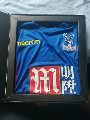 Signed Crystal Palace Shirt Boxed With Certificate XL • 100£