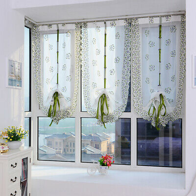 Romantic Flower Polyester Window Curtains For Living Room Bedroom Home Decor Lin • 4.85£