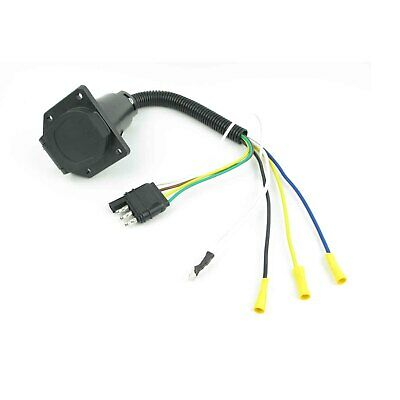 $ CDN18.23 • Buy 4 Pin To 7 Way Blade RV Trailer Wiring Adapter Connector Cable Plug