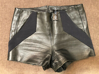 $50 • Buy HOT!!! David Lerner Black Soft Leather Shorts Small