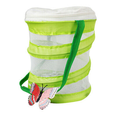 $7.46 • Buy Praying Mantis Stick Insect Cage Butterfly Chameleon Zipper Housing Enclosure