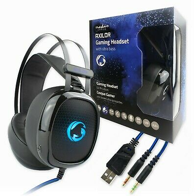 3.5mm & USB COMPUTER STEREO HEADSET With MICROPHONE | Gaming Zoom Or Skype PC • 9.99£