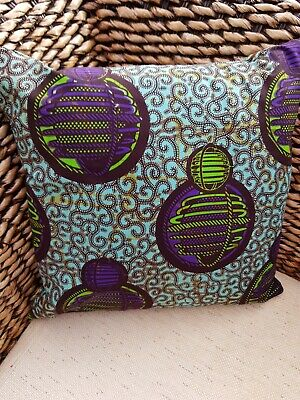 African Wax Cotton  Fabric Cushion Cover • 12.50£
