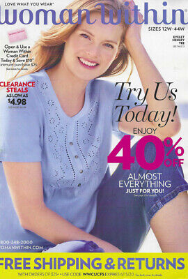 $4.50 • Buy WOMAN WITHIN Plus-Size Women's Fashion & Lingerie CATALOG Summer 2020