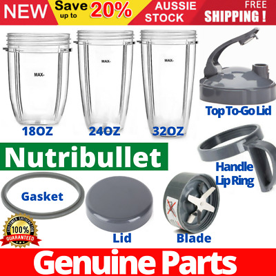 AU59.95 • Buy Nutribullet Cups Replacement Parts Gasket Lid Extractor Blade 600W & 900W Model