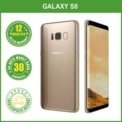 AU419.99 • Buy New Unlocked Samsung Galaxy S8 G950F 64G Smartphone Multi Colours LOCAL DELIVERY