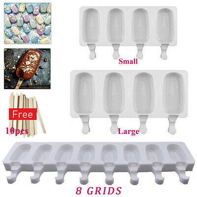 £5.99 • Buy Frozen Ice Cream Pop Mold 4Cell Kitchen Popsicle Maker Lolly Cake Mould Tray Pan