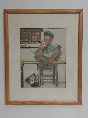 $ CDN225 • Buy Vintage Norman Rockwell  Recipes For Success  Color Lithograph Framed 1960-1970