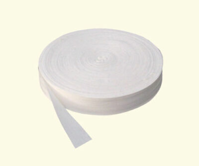 White 25 Mm Cotton Bunting Tape 50 Metre Roll • 9.99£