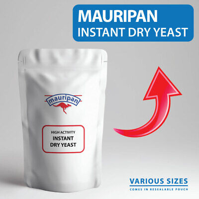 Mauripan Instant Dried Yeast High Activity Instant Dry BREAD YEAST For Baking • 8.99£