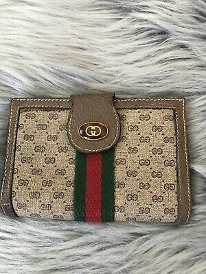 $249.99 • Buy Auth. Vintage Gucci Accessory Collection Ophidia Web Monogram Leather Wallet