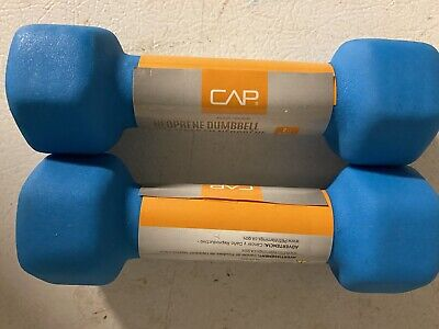 $ CDN32.96 • Buy CAP  2lb BLUE NEOPRENE DUMBELLS! SET OF 2 TOTAL OF 4 Lbs ! SHIPS SAME DAY 🔥🔥🔥