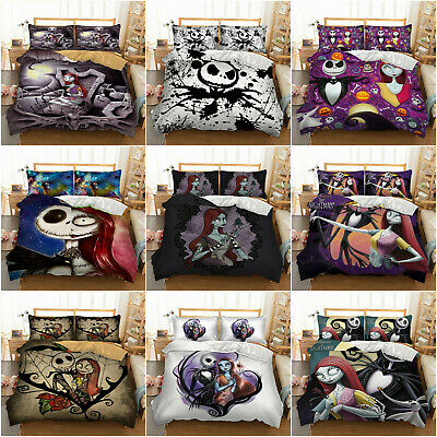 £22.99 • Buy Duvet Cover Jack And Sally The Nightmare Before Christmas Single Double King New
