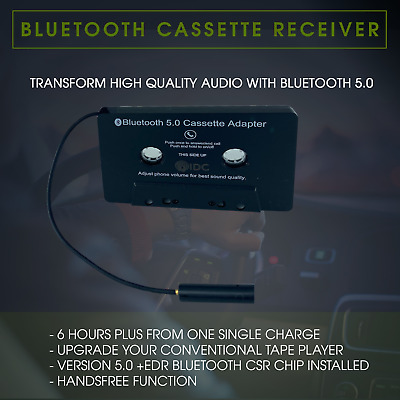 £17.49 • Buy Universal BLUETOOTH CAR AUDIO TAPE CASSETTE ADAPTER FOR IPHONE MP3 IPOD ANDROID