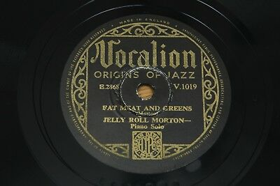 78 RPM 10 : Jelly Roll Morton - Fat Meat And Greens / Sweetheart, Vocalion V1019 • 3.95£