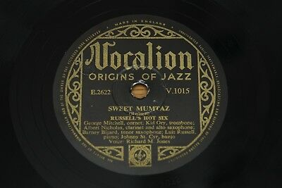 78 RPM 10  Record: Russell's Hot Six - Sweet Mumtaz / 29th  - Vocalion V1015 • 3.95£