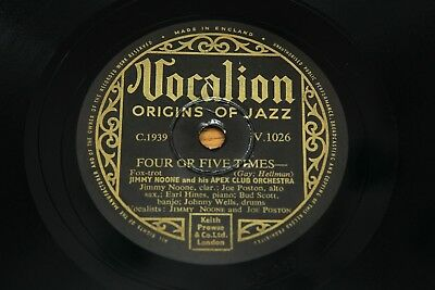 78 RPM 10  Record: Jimmy Noone - Four Or Five Times / My Monday - Vocalion V1026 • 3.95£
