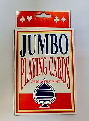 Jumbo Playing Cards Deck Extra Large Cards Playing Cards Pack Of 52 New • 2.99£