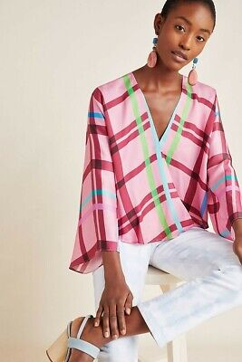 $ CDN40.74 • Buy Anthropologie Guapa Carrie Blouse Multicolor Striped Rayon Womens Size XS New