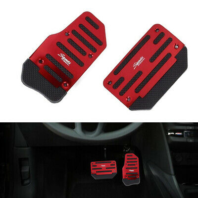 £5.76 • Buy 2x Red Automatic Car Accelerator Brake Foot Pedal Pad Cover Non-Slip Accessories
